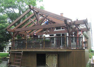 timber frame deck