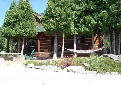 square log home