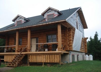 hand crafted log home
