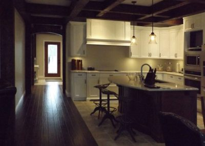 timber frame structure kitchen