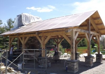 timber frame covered patio