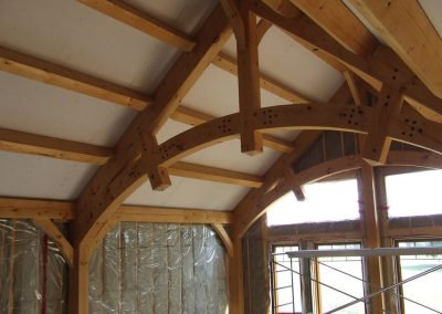 rounded exposed timbers