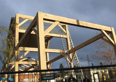 commercial timber frame project