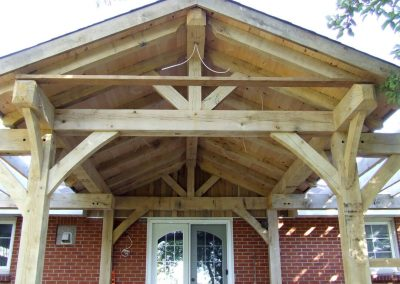 timber frame entry way