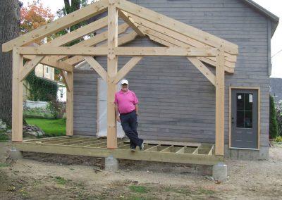 timber frame covered deck