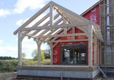 timber frame addition covered patio