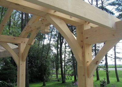 timber frame garden entryway