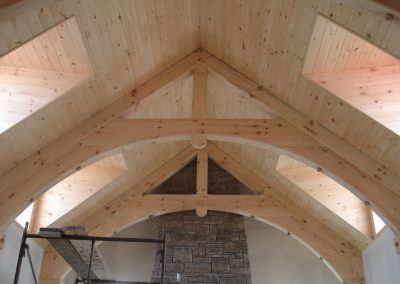 timber frame vaulted ceiling