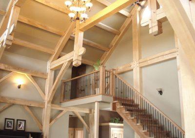 timber frame stairway