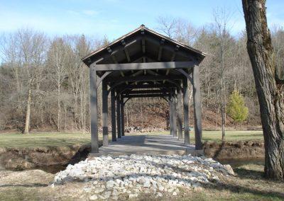 timber frame bridge