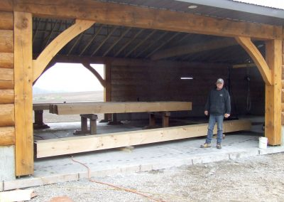 large timbers at the shop