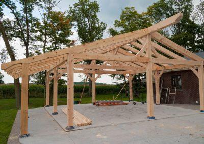 timber frame car port