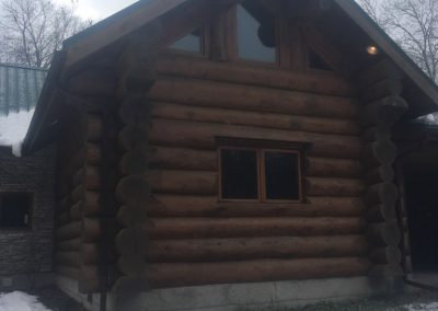 handcrafted log structure
