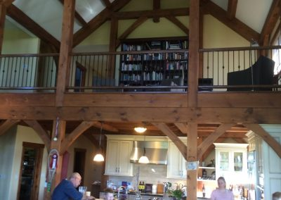 timber frame home with loft