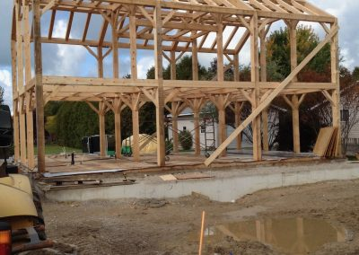 large timber frame structure