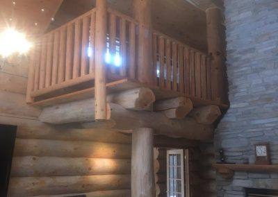 handcrafted round log home